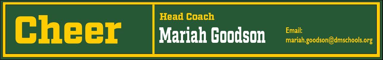 Cheer Coach Info