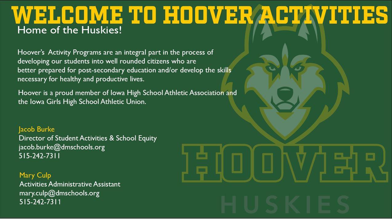 HOOVER ACTIVITIES DEPARTMENT HEADER