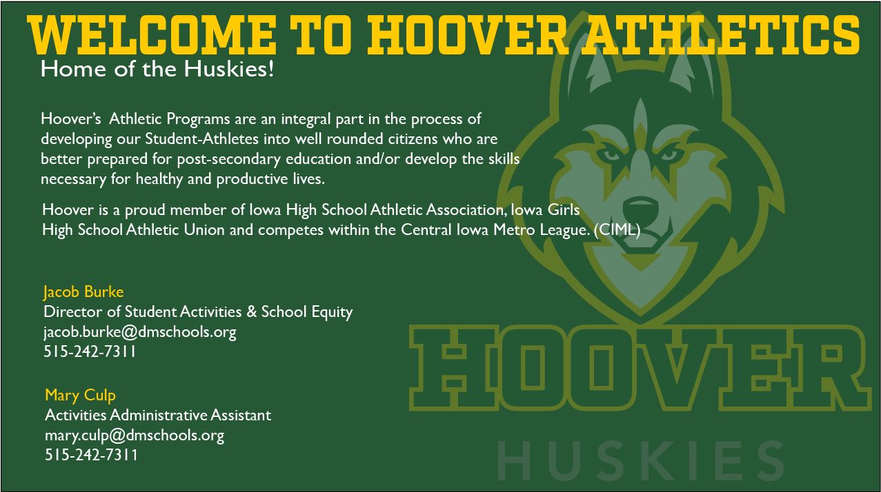 Hoover Athletic Department Main Page