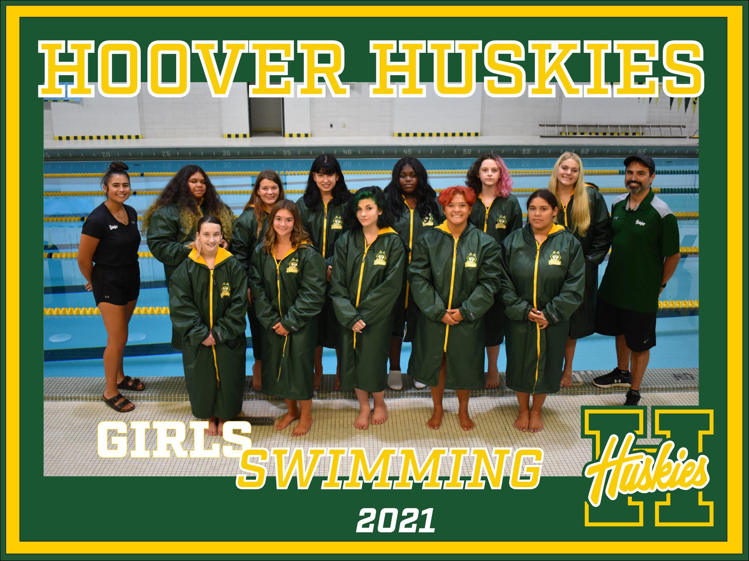 Hoover GIRLS SWIMMING POSTER 2021